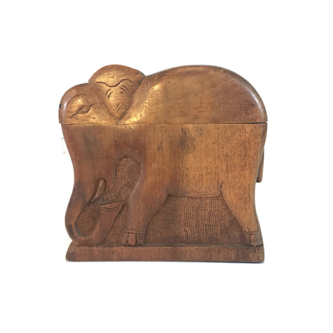 Carved Wooden Elephant Cigarette Holder