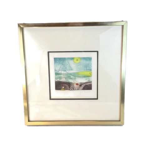 Mid Century Modern Signed Etching