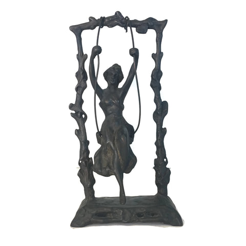 Bronze Statue Of A Swinging Girl