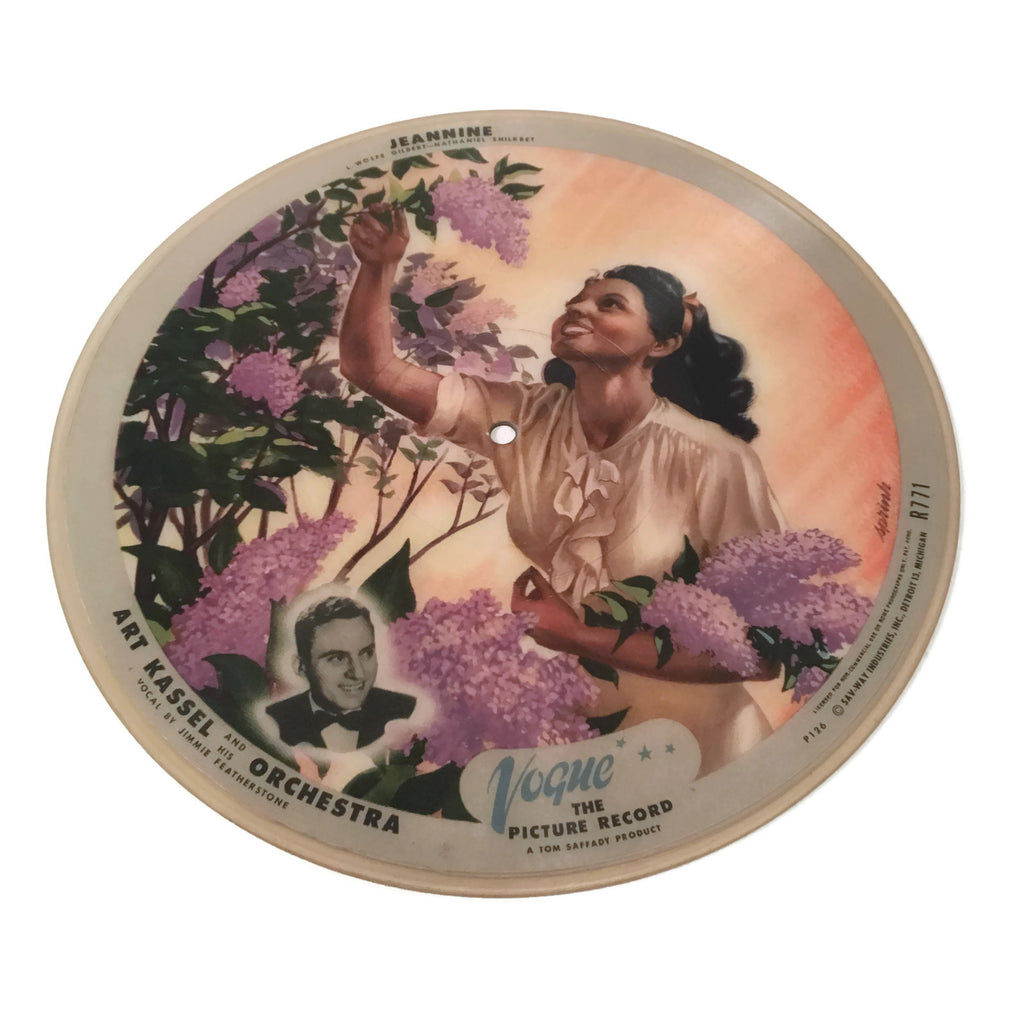 Vintage Vogue Art Kassell Picture Disk Record
