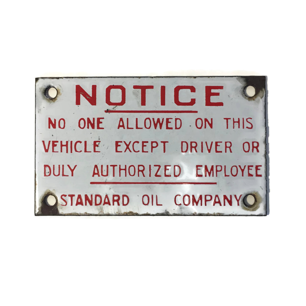 Vintage Standard Oil Company Porcelain Sign
