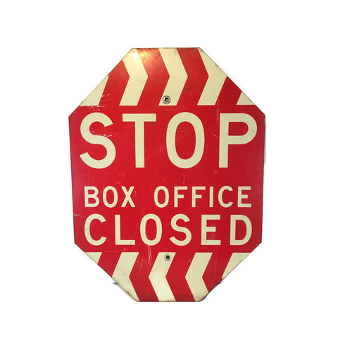 Vintage Stop Box Office Closed Sign