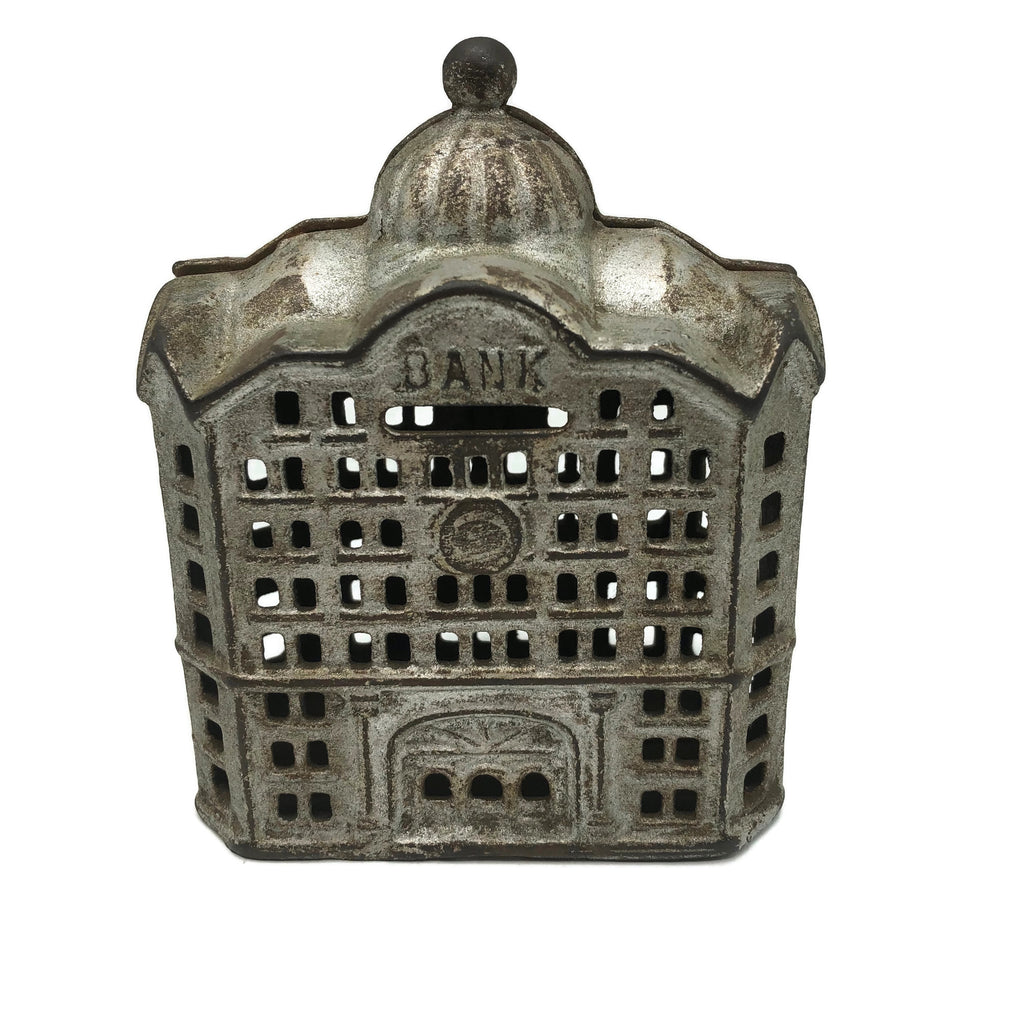 Early 1900's Antique Cast Iron Dome Top Bank Building