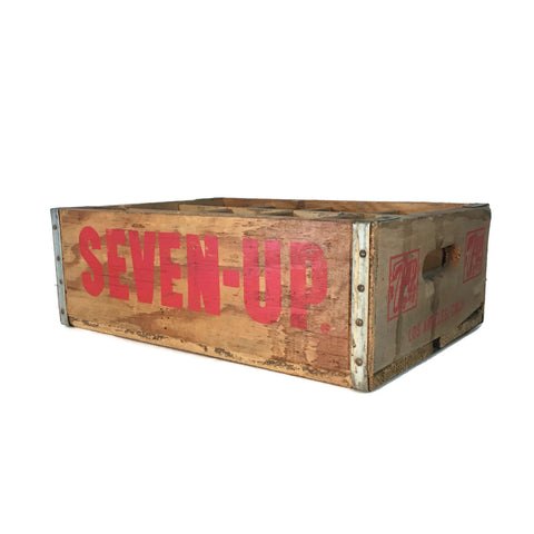 Vintage 7-UP Wooden Crate Box