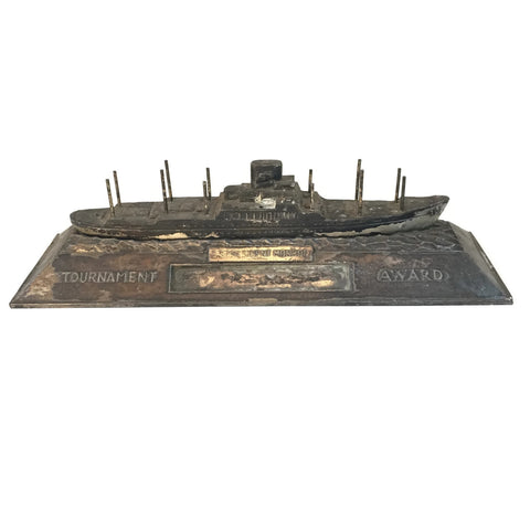 Vintage USS Monroe  Ship Tournament Award (Served in WW2)