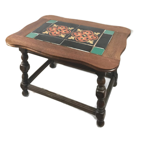 Vintage 1930's Taylor Tile Small Table