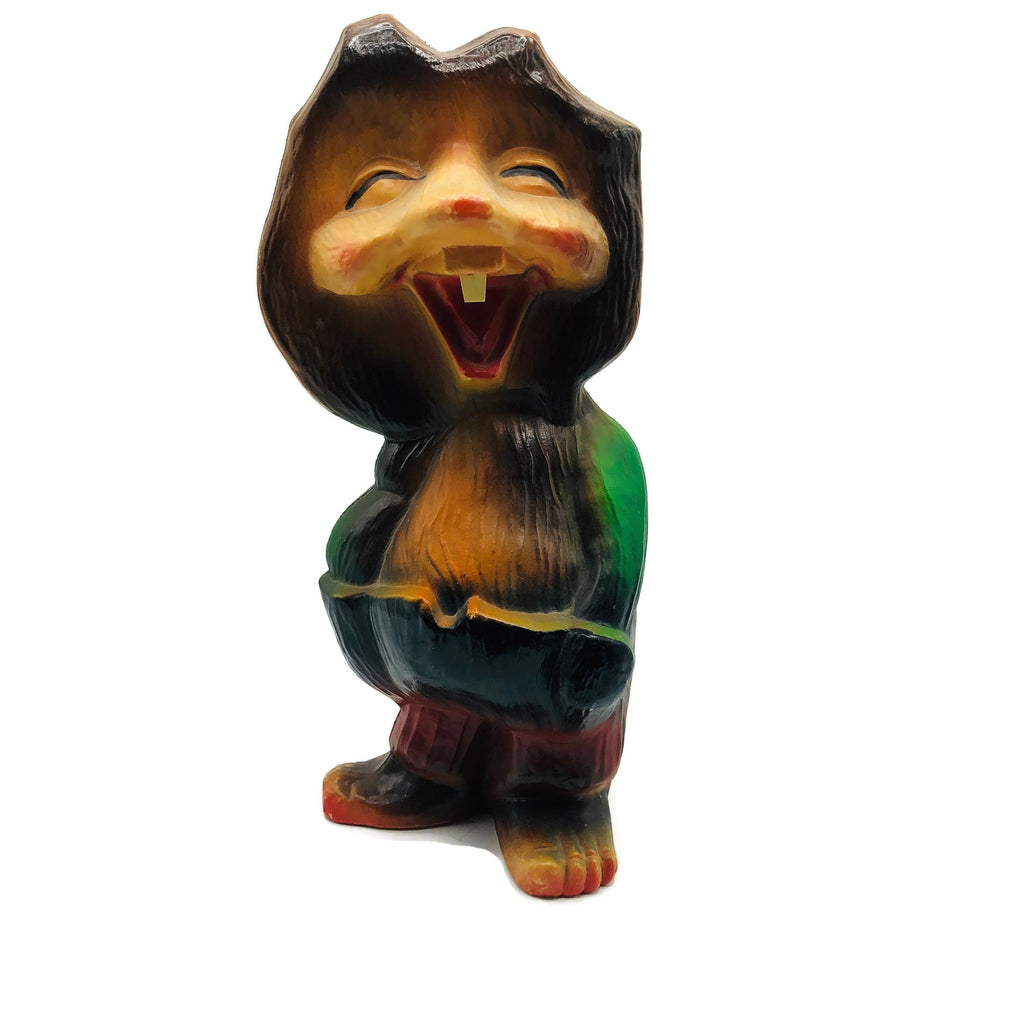 Available is a vintage Plastic Norwegian  Gnome Troll Figurine