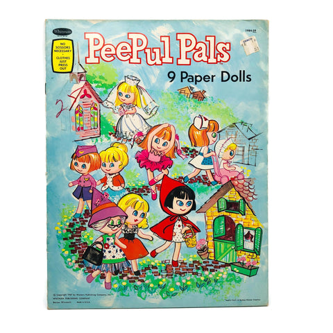 Whitman Peepul Pals 9 Paper Dolls Booklet