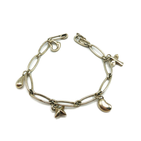 Tiffany & Co. Sterling Silver Links Charm Bracelet