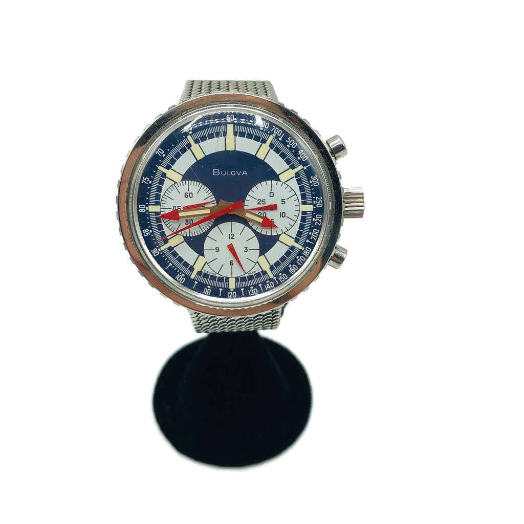 Vintage Original Bulova Stars and Stripes 1970's Chronograph Watch