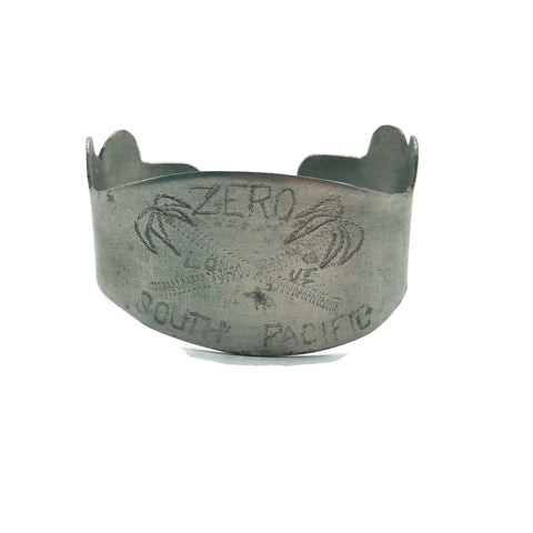 WW2 Trench Art Bracelet Made From Japan Wrecked Zero