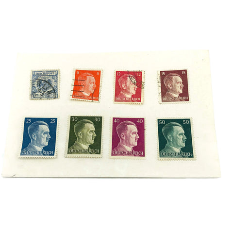 Vintage Lot of 8 1930's 1940's Hitler Postage Stamps