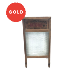 Vintage National Washboard Company Glass Wash Board
