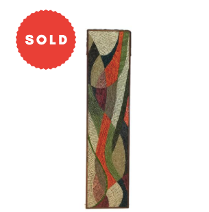 Mid Century 1950's Mosaic Wall Plaque Abstract Art Piece