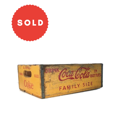 Vintage Coca-Cola Wooden Box Crate