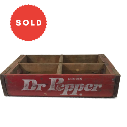 Vintage Wooden Dr. Pepper Soda Crate