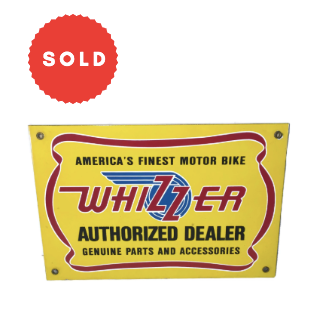 Vintage Repro Whizzer Motor Bike Metal Sign