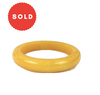 Marbled Yellow Egg Yolk Bakelite Bangle Bracelet