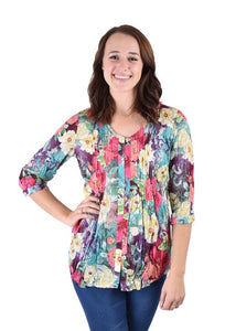 G693332 Celine Floral Top by Ethyl
