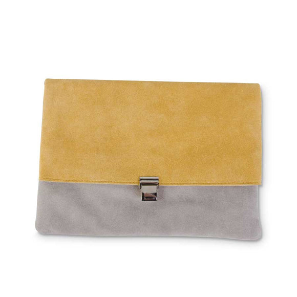Mustard yellow & Gray Envelope Shoulder by K&K