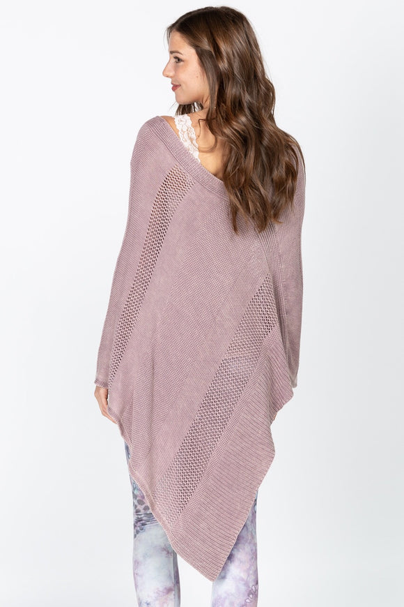 S4676A Asymmetrical Sweater Poncho by MRena