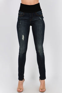 B4422 Classic Wash Jean with waistband by Mrena