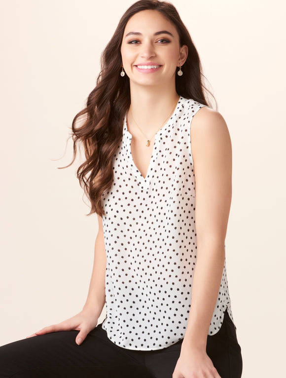 405540 Polka Dot Top by Charlie Paige