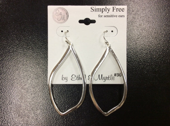 Silver French Wire Earring by Ethel&Myrtle