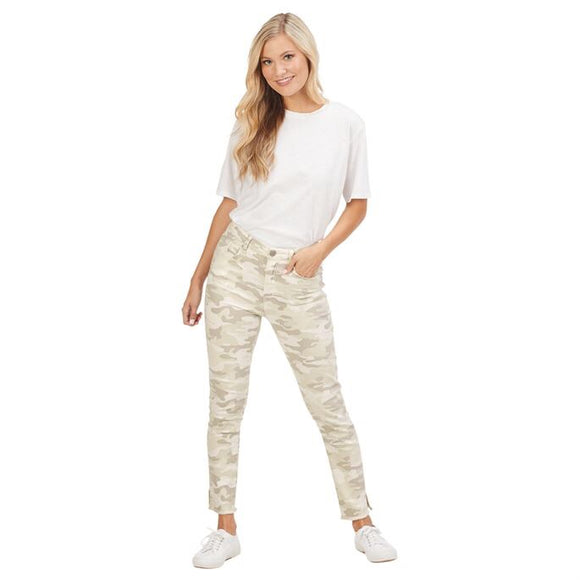 White Rory Camo Jeans by Mudpie