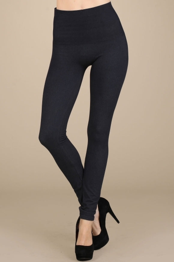B3162 High waisted denim leggings by MRena