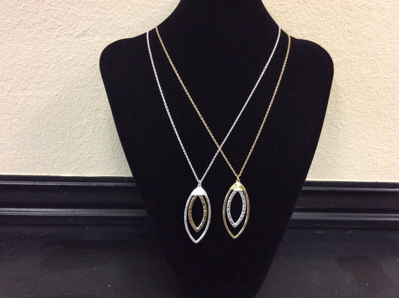 Gold and Silver Hammered Necklaces by Ethel&Myrtle