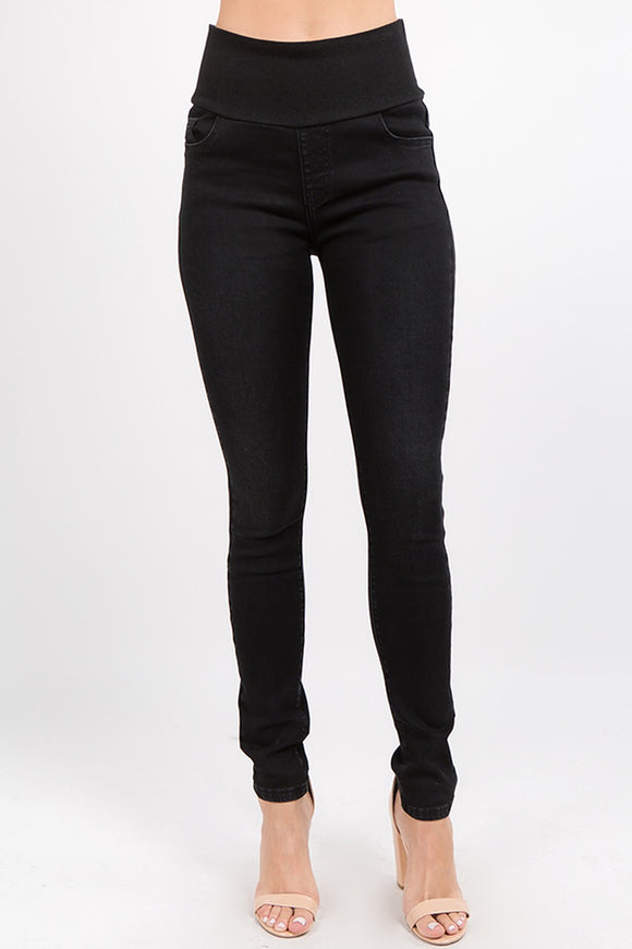 B4531 Classic Washed Black Jean w/ High Waistband by MRena