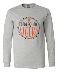 Tahlequah Tiger Team Circle - Long Sleeve Tee