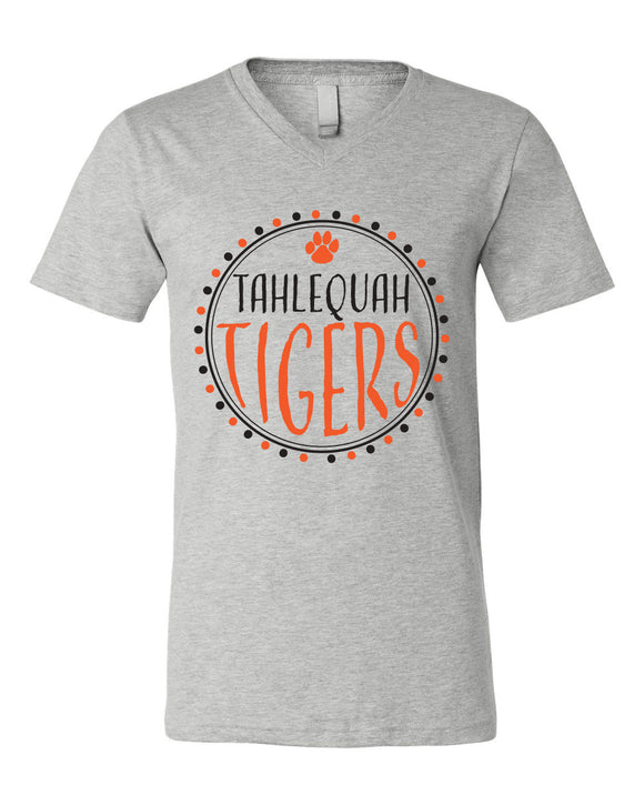 Tahlequah Tiger Team Circle - Short Sleeve Tee