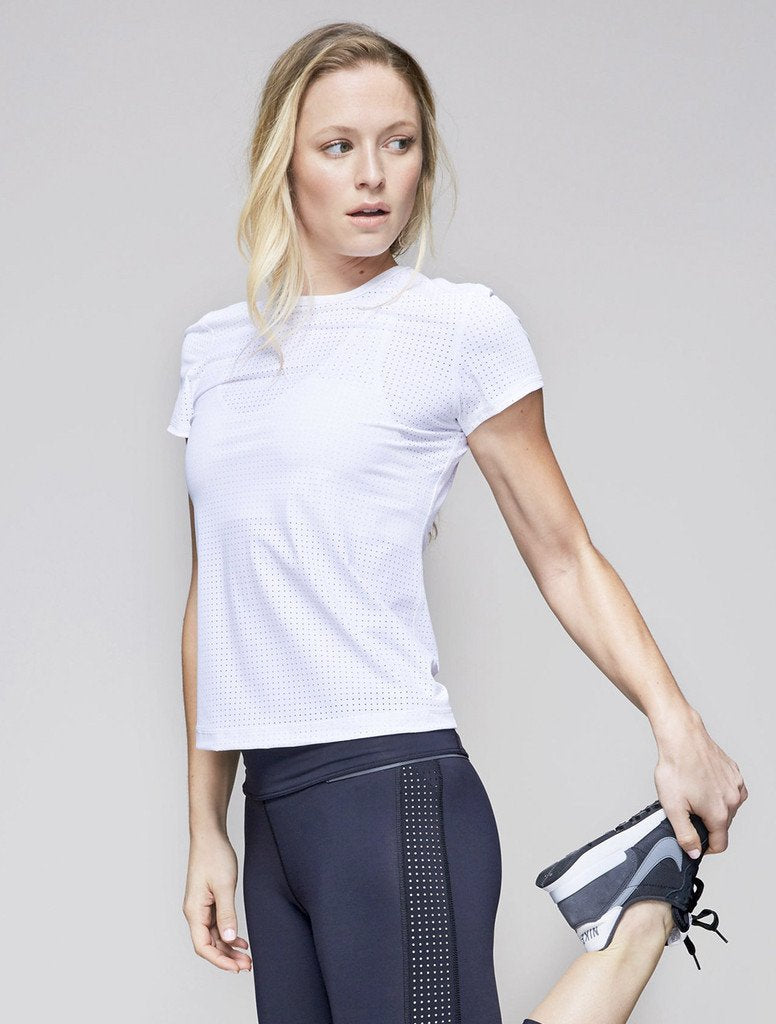 Tricou Sport Pipeline - Alb - Azuroo Activewear