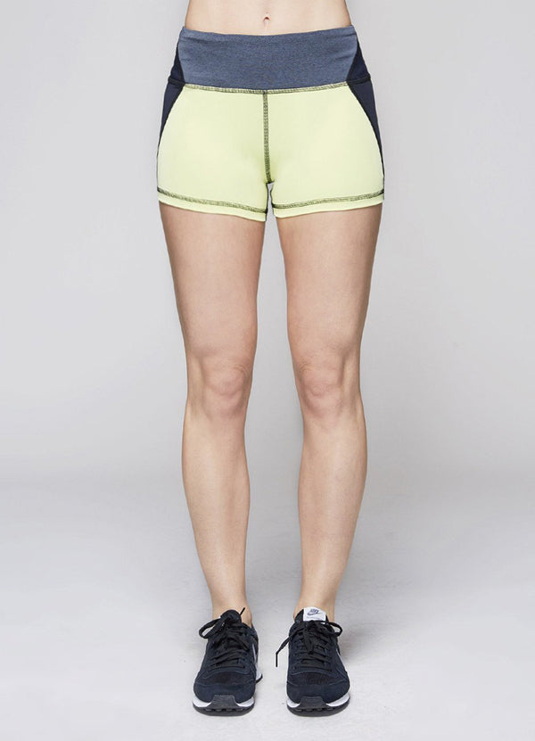 Pantaloni Scurti Edge Hot - Citrine - Azuroo Activewear