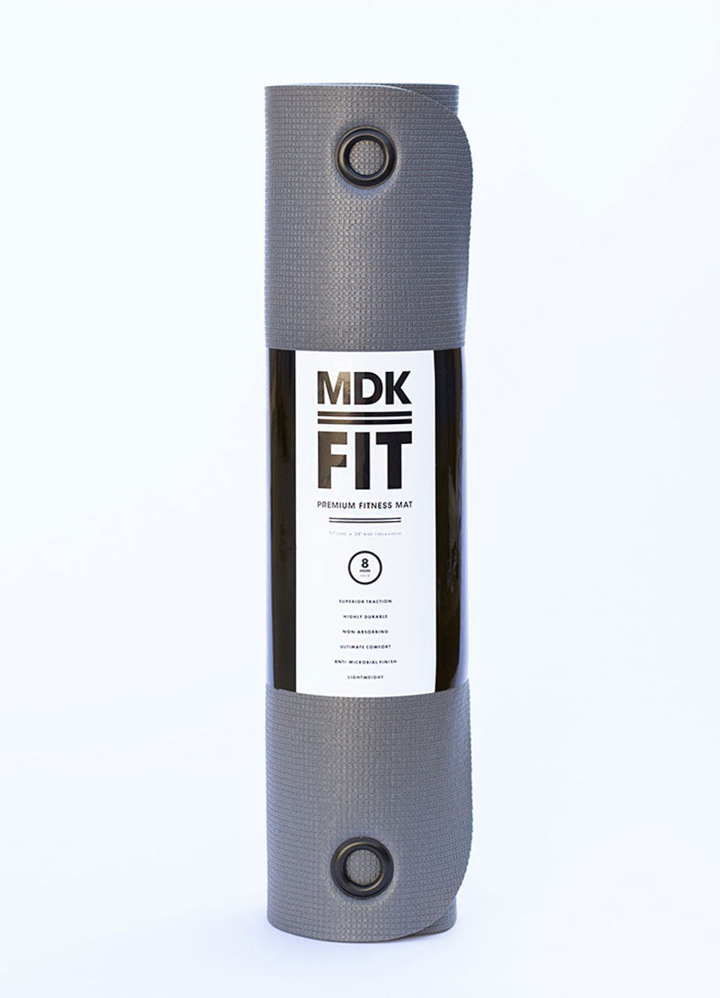 Saltea de fitness MDK FIT 8mm - Black Grey - Azuroo Activewear