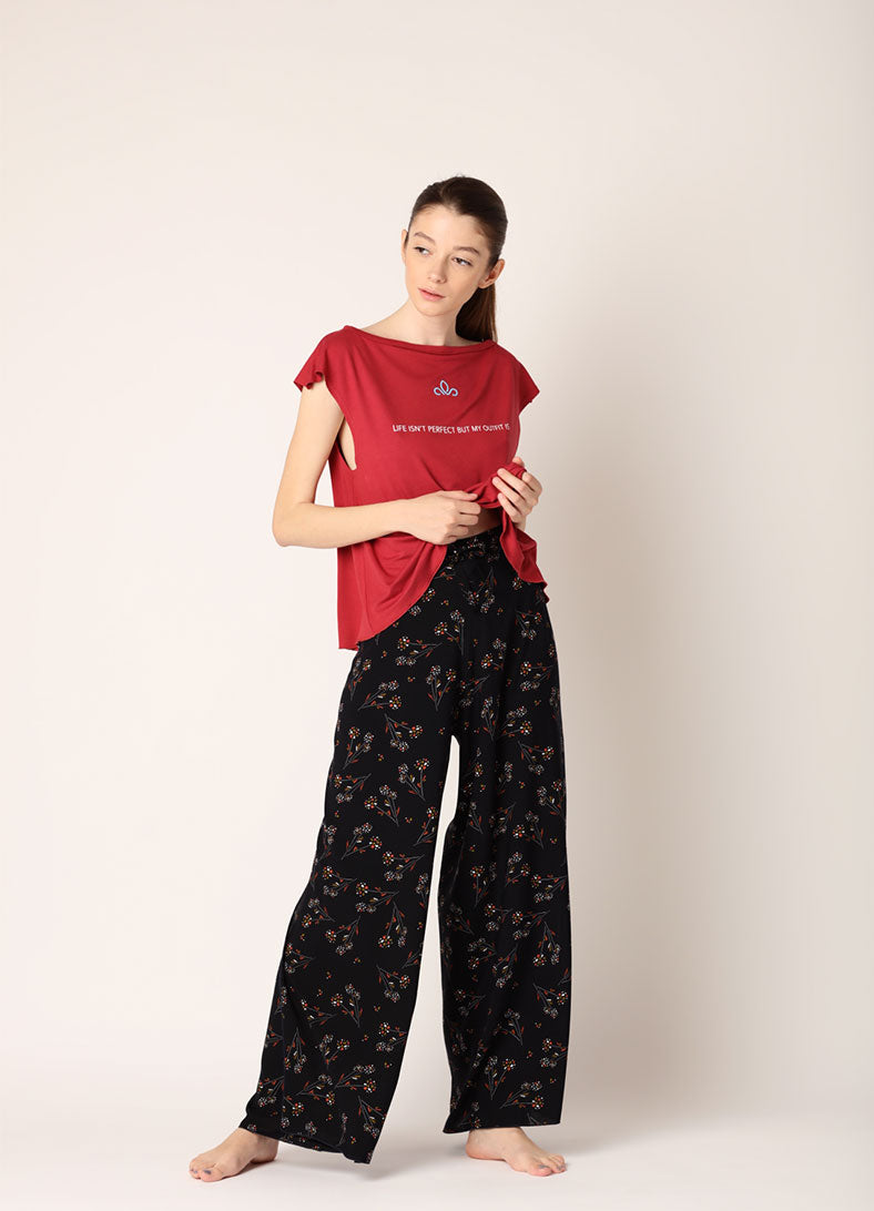 Pantaloni SummerWell - Red Flower Print - Azuroo Activewear