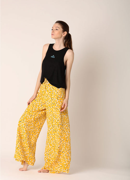 Pantaloni largi Infinity (5in1) - Yellow Blossom