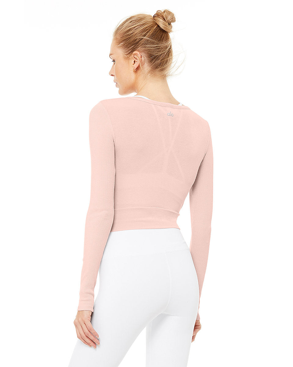 Cover Long Sleeve Top - Pale Mauve - Azuroo Activewear