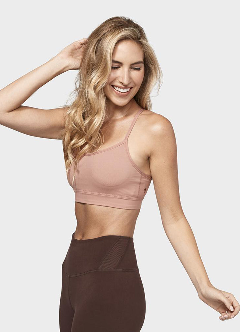 Bustiera Solite Strappy - Dusty Rose - Azuroo Activewear