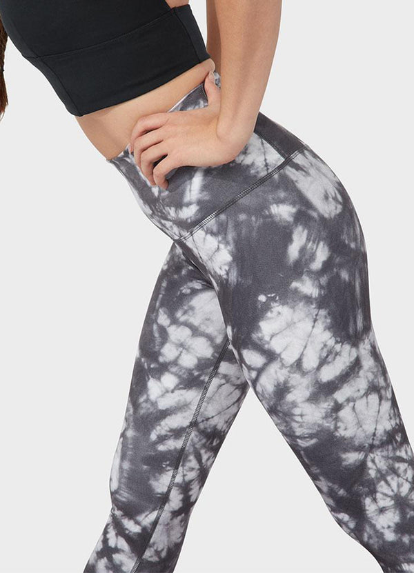 Colanti de Yoga Essence Printed - Camo Tie Dye Blacks - Azuroo Activewear
