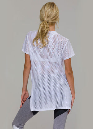 Tricou Dress Top - White Peep - Azuroo Activewear
