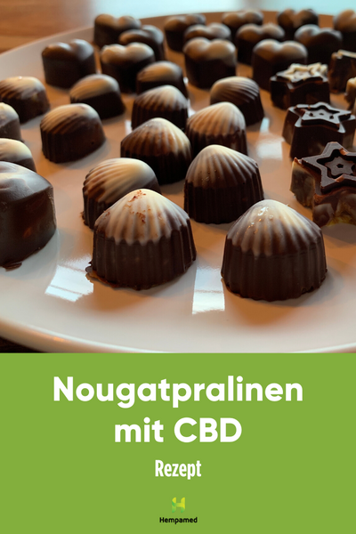 Hempamed recipe: Nougat chocolates with CBD Pinterest graphics