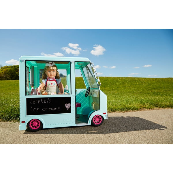 Our Generation Sweet Stop Ice Cream Truck - Leeval Shop Direct