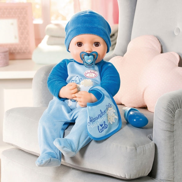 Baby Annabell Alexander 43cm Doll - Leeval Shop Direct