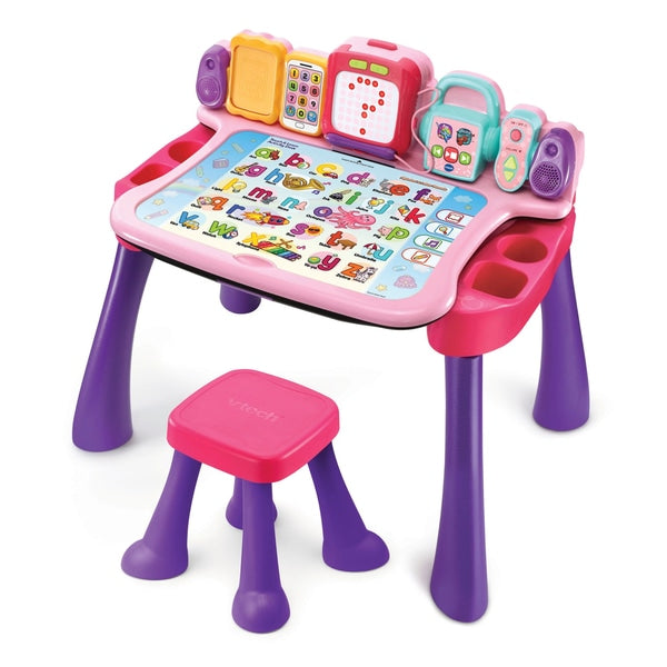 VTech Touch & Learn Activity Desk Pink - Leeval Shop Direct
