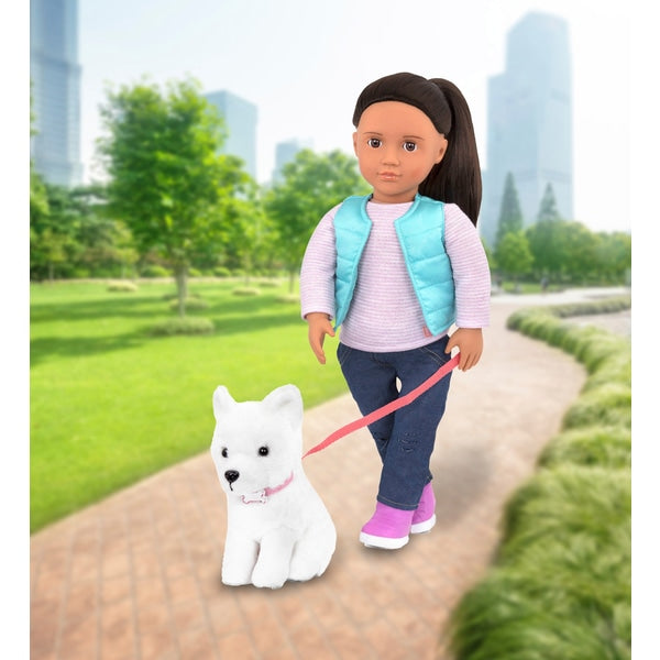 Our Generation Doll Cassie and Pet Samoyed - Leeval Shop Direct