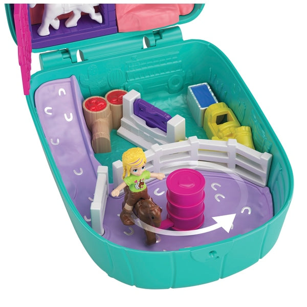 Polly Pocket Cactus Cowgirl Ranch Compact Playset - Leeval Shop Direct
