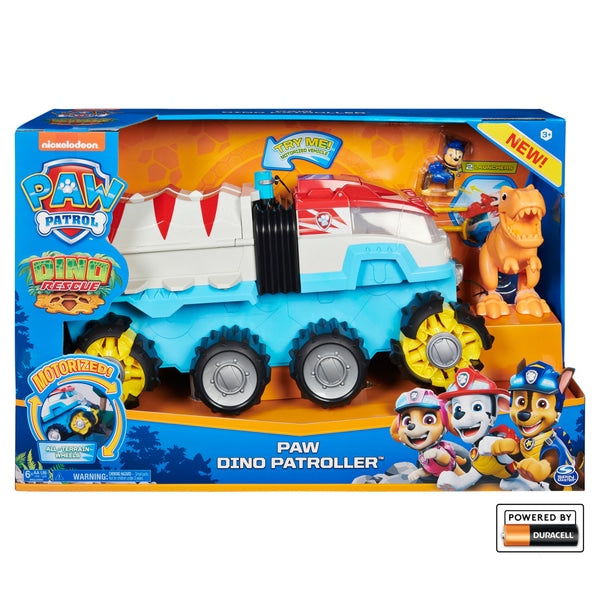 PAW Patrol Dino Rescue Dino Patroller Motorised Team Vehicle with Chase & T-Rex - Leeval Shop Direct